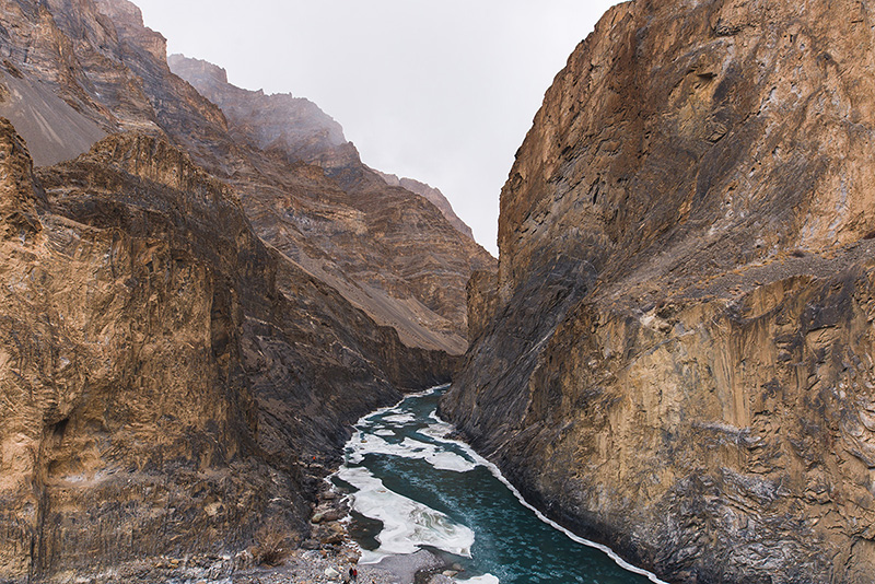 Ariel view of Zanskar river