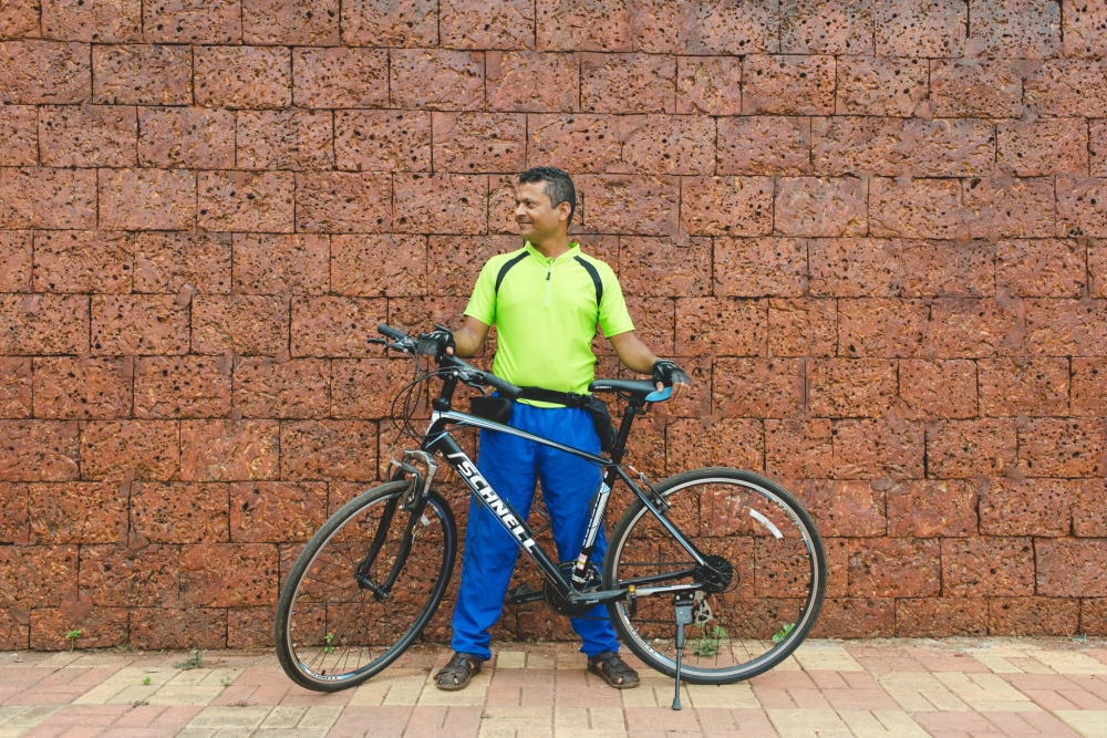 Franky Gracias cycling in Goa by Sukrit Nagaraj India