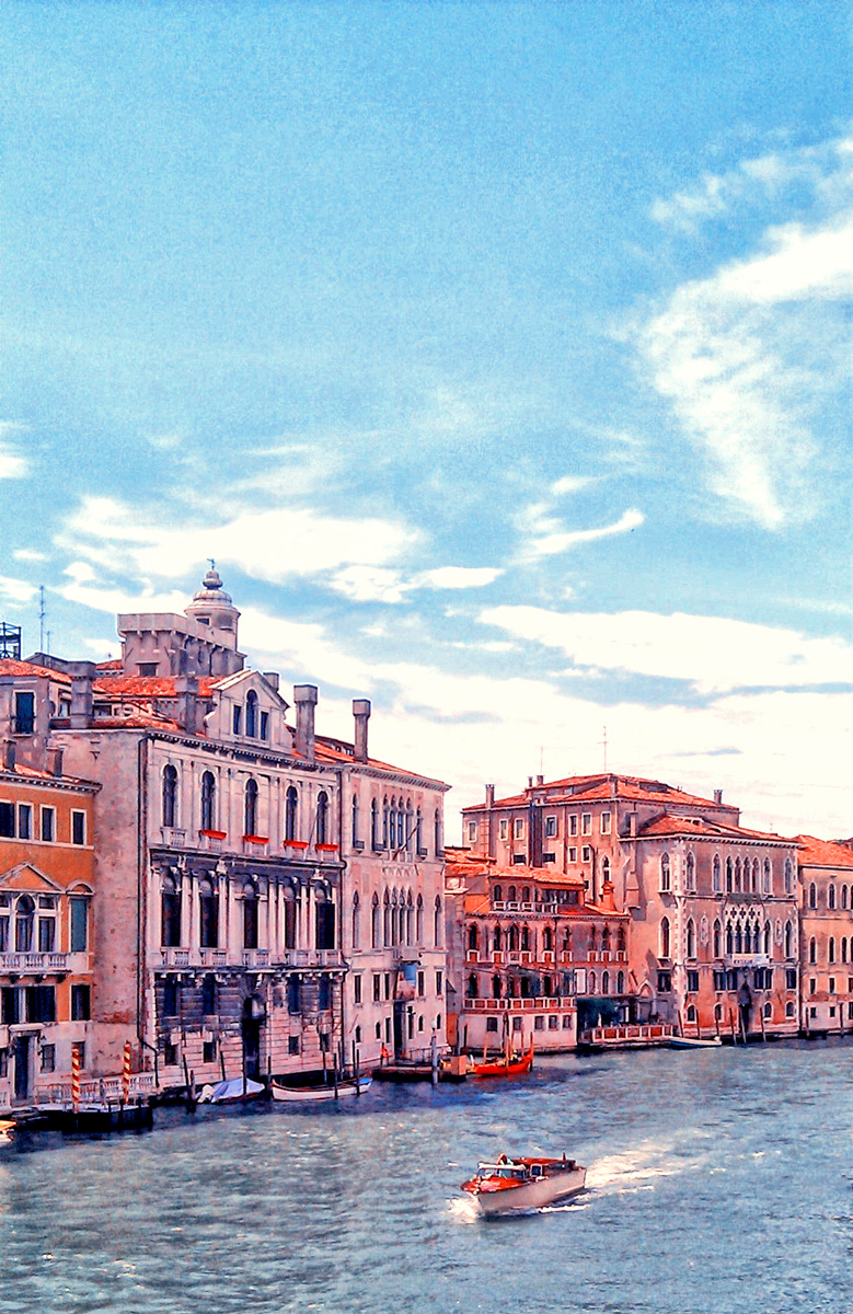 The beautiful waterways of Venice Italy